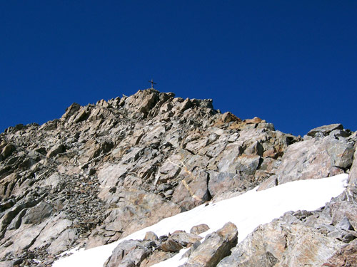 Foto: vince 51 / Wander Tour / Von Gries im Sulztal auf den Hohen Seeblaskogel (3235m) / Am Gipfelgrat / 06.05.2007 17:16:53