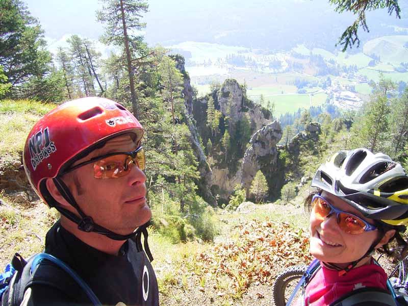Foto: Corinna Mößlacher / Mountainbike Tour / Weiße Wand - Alm hinterm Brunn - Weissensee / 10.05.2007 11:56:58