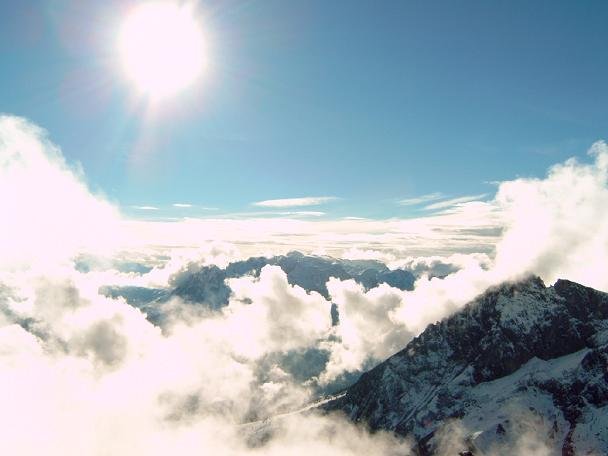 Foto: Andreas Koller / Wandertour / Über die Werfener Hütte auf Streitmandl und Eiskögel (2378  m) / Hochkönig (2941 m) im Gegenlicht / 15.05.2007 00:52:34