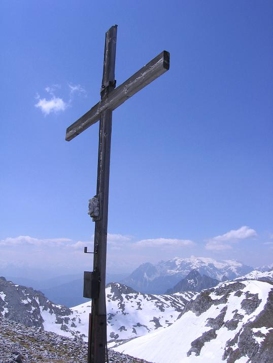 Foto: Andreas Koller / Wander Tour / Bleikogel - Runde (2411 m) / Bleikogel-Gipfelkreuz / 15.05.2007 01:23:05