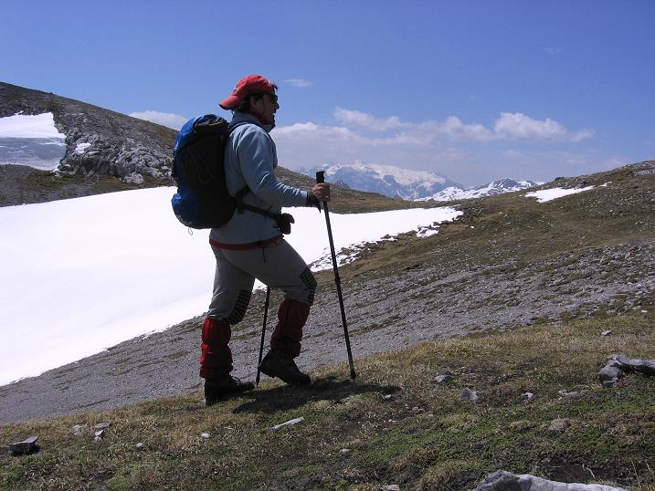 Foto: Andreas Koller / Wander Tour / Bleikogel - Runde (2411 m) / Im Abstieg gegen Hochkönig (2941 m) / 15.05.2007 01:24:01