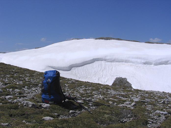 Foto: Andreas Koller / Wander Tour / Bleikogel - Runde (2411 m) / Im Sattel unterhalb des Bleikogels / 15.05.2007 01:24:24