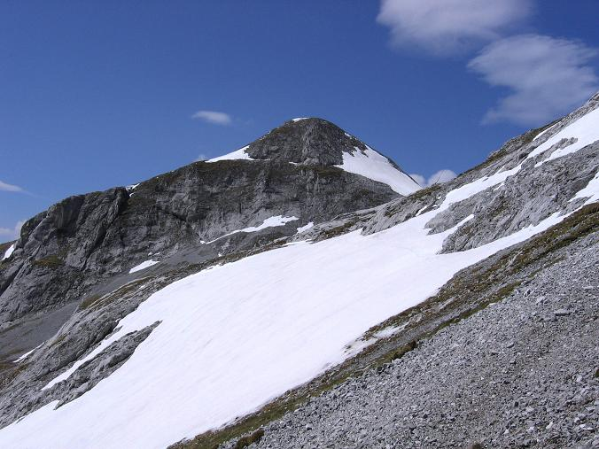 Foto: Andreas Koller / Wander Tour / Bleikogel - Runde (2411 m) / Steile Schneefelder unterhalb des Schubbühel (2334 m) / 15.05.2007 01:25:51