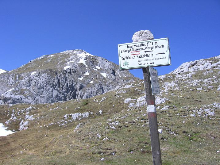 Foto: Andreas Koller / Wander Tour / Bleikogel - Runde (2411 m) / In der Tauernscharte / 15.05.2007 01:26:13