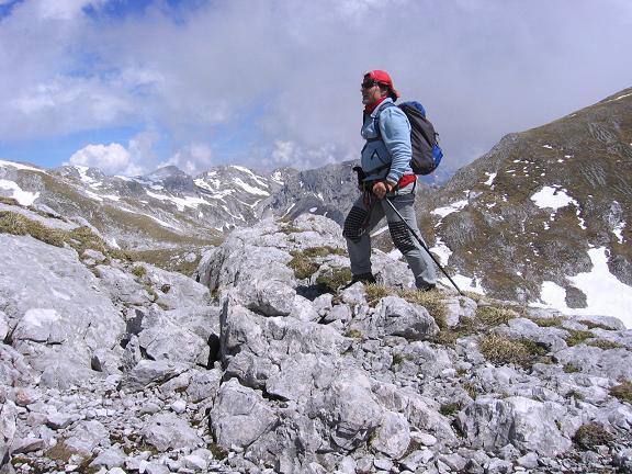 Foto: Andreas Koller / Wander Tour / Raucheck über die Hochthron-Leiter (2431 m) / Im Anstieg zum Raucheck mit Bleikogel (2411 m) im Hintergrund / 15.05.2007 01:48:16