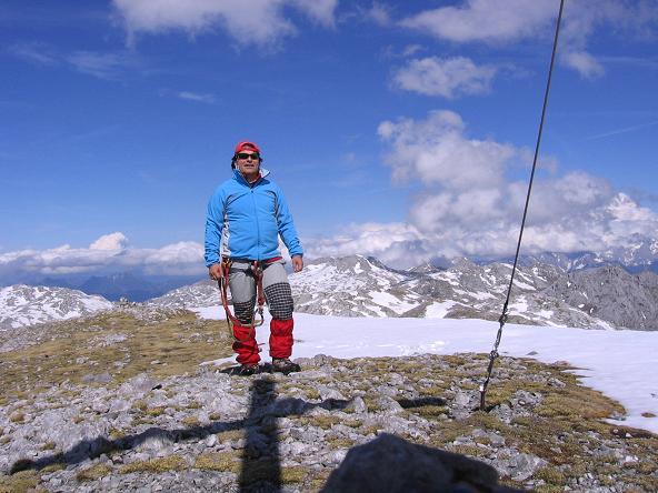 Foto: Andreas Koller / Wander Tour / Raucheck über die Hochthron-Leiter (2431 m) / Am Gipfel des Raucheck / 15.05.2007 01:51:24