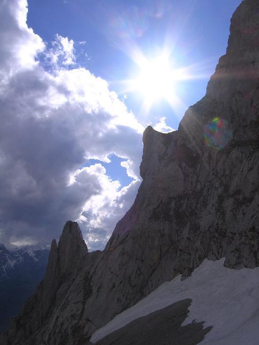 Foto: Andreas Koller / Wander Tour / Raucheck über die Hochthron-Leiter (2431 m) / Kleines Fieberhorn und S-Kante Großes Fieberhorn / 15.05.2007 01:53:17