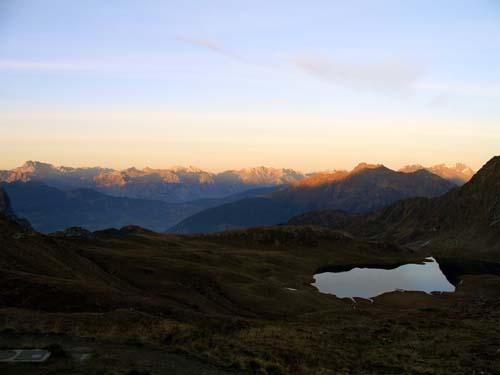 Foto: vince 51 / Wander Tour / Von der Tilisunahütte auf die Scheienfluh (2627m) / Sonnenuntergang / 17.05.2007 20:33:11