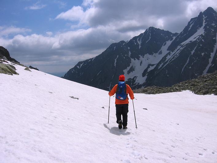 Foto: Andreas Koller / Wandertour / Rysy - Paradeberg der Hohen Tatra (2503 m) / Am Sattel bei den Zable plesa / 21.05.2007 18:59:28