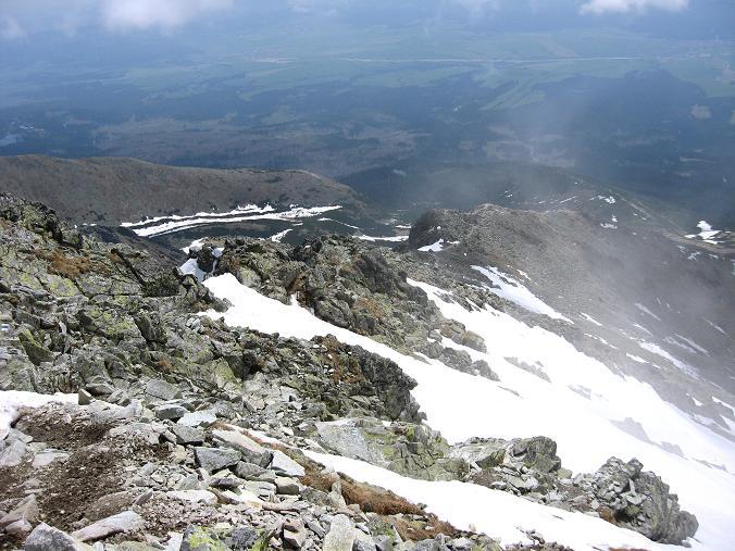Foto: Andreas Koller / Wander Tour / Krivan von Strbske pleso (2494 m) / Der lange Grat auf den Krivan / 21.05.2007 19:39:11