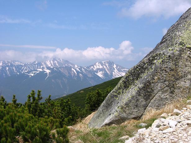 Foto: Andreas Koller / Wander Tour / Krivan von Strbske pleso (2494 m) / Blick in die Westliche (Weiße) Tatra / 21.05.2007 19:38:07