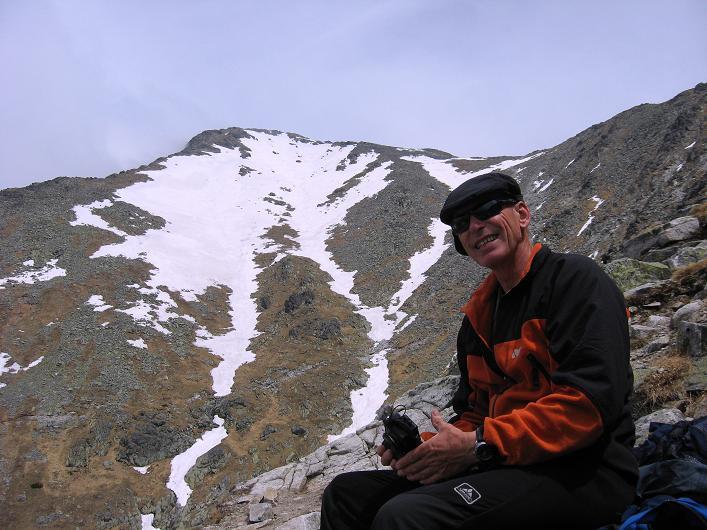 Foto: Andreas Koller / Wander Tour / Krivan von Strbske pleso (2494 m) / Rast unter dem Krivan / 21.05.2007 19:38:37
