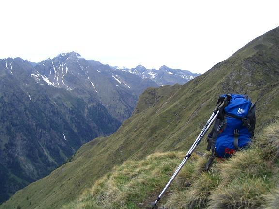 Foto: Andreas Koller / Wander Tour / Gummaberg und Kreuzhöhe (2566 m) / Kleine Steiglein in abschüssigem Gelände über dem Göriachtal / 28.05.2007 10:37:42