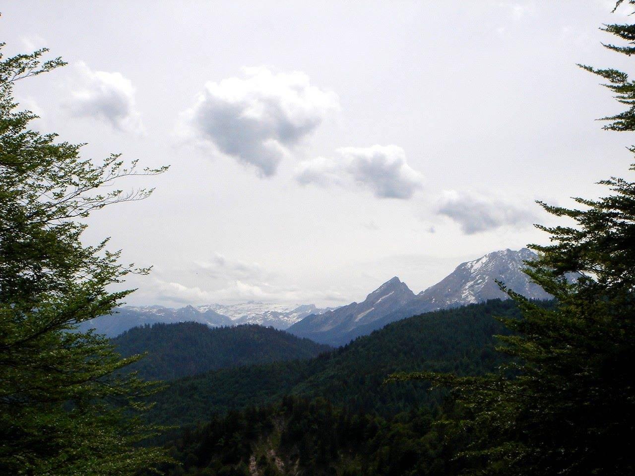 Foto: Manfred Karl / Wander Tour / Törlkopf, 1704 m / Übergossene Alm und Watzmannstock. / 03.06.2007 20:54:51