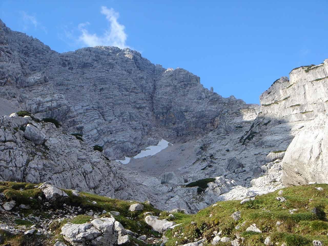 Foto: Manfred Karl / Wander Tour / Großes Ochsenhorn über Schärdinger Steig / Nähergerückt, aber immer noch ein schönes Stück zum Gipfel. / 16.06.2007 00:04:25