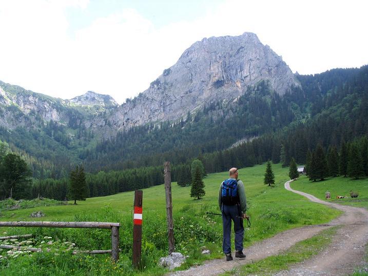 Foto: Andreas Koller / Wander Tour / Über die Gsollhütte auf die TAC-Spitze (2019 m) / Auf der Gsoll Alm mit Frauenmauer (1827 m) / 07.06.2007 22:55:07