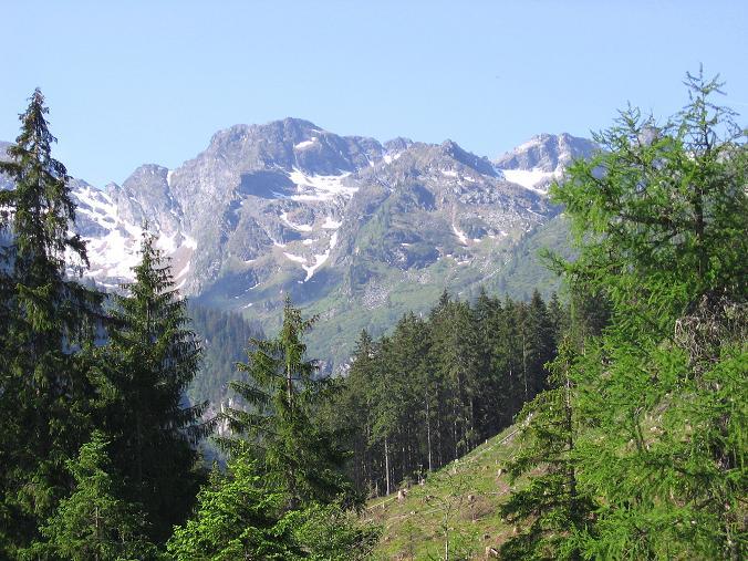 Foto: Andreas Koller / Wander Tour / Über die Hans Wödl Hütte auf die Hochwildstelle (2747 m) / Blick in den Talschluss des Seewigtals / 11.06.2007 21:06:20