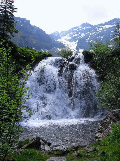 Foto: Andreas Koller / Wander Tour / Über die Hans Wödl Hütte auf die Hochwildstelle (2747 m) / Wasserfall beim Obersee / 11.06.2007 21:09:49