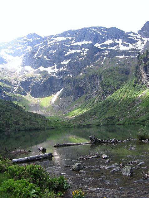 Foto: Andreas Koller / Wander Tour / Über die Hans Wödl Hütte auf die Hochwildstelle (2747 m) / Obersee mit Hochwildstelle / 11.06.2007 21:10:08