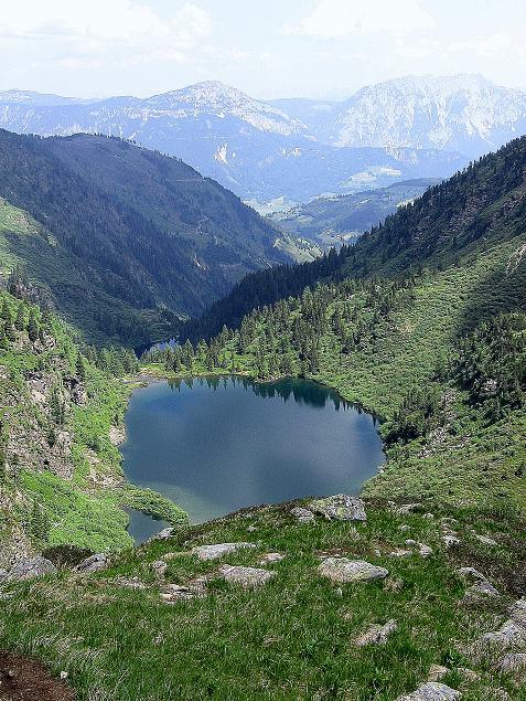 Foto: Andreas Koller / Wander Tour / Über die Hans Wödl Hütte auf die Hochwildstelle (2747 m) / Blick auf den Ober- und den Hüttensee / 11.06.2007 21:13:31