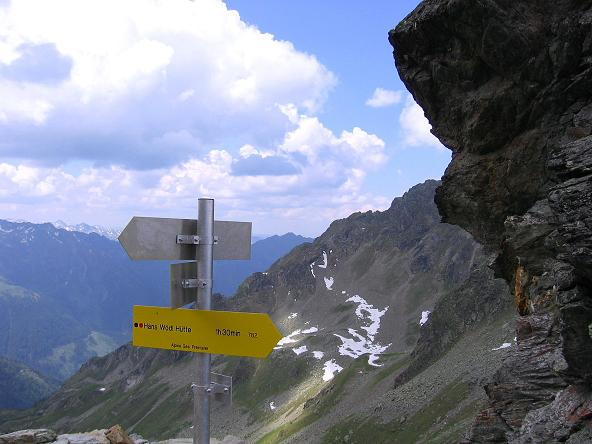 Foto: Andreas Koller / Wander Tour / Über die Hans Wödl Hütte auf die Hochwildstelle (2747 m) / In der Neualmscharte / 11.06.2007 21:13:43