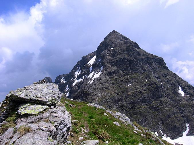 Foto: Andreas Koller / Wander Tour / Über die Hans Wödl Hütte auf die Hochwildstelle (2747 m) / Blick von der Kleinen Wildstelle auf die Aufstiegsroute / 11.06.2007 21:17:08