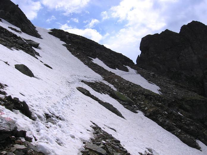 Foto: Andreas Koller / Wander Tour / Über die Hans Wödl Hütte auf die Hochwildstelle (2747 m) / Abstieg von der Neualm Scharte / 11.06.2007 21:19:11