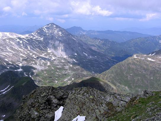 Foto: Andreas Koller / Wander Tour / Vom Giglachsee auf die Engelkarspitze (2518 m) / Blick zur Steirischen Kalkspitze (2459 m) und in das Preuneggtal / 11.06.2007 22:44:57