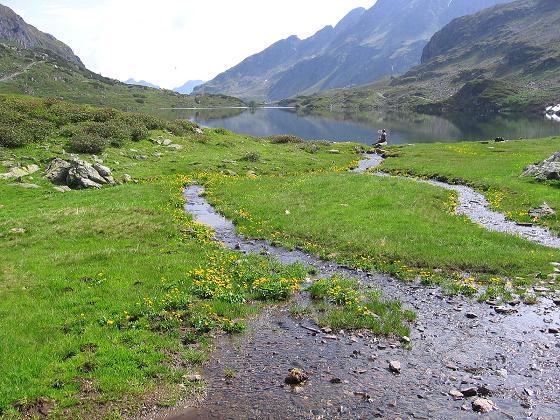 Foto: Andreas Koller / Wander Tour / Vom Giglachsee auf die Engelkarspitze (2518 m) / Der Untere Giglachsee / 11.06.2007 22:41:19