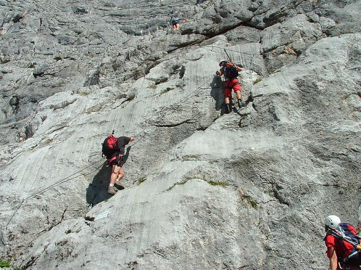 Foto: Johann Kussegg / Klettersteig Tour / Hochthron-Klettersteig  / Die ersten Hm am Stahlseil / 13.06.2007 11:41:23