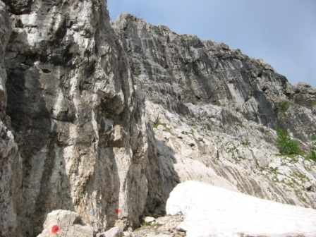 Foto: dobratsch11 / Klettersteig Tour / Winkelturm Klettersteig / Der Einstieg / 16.06.2007 20:40:06