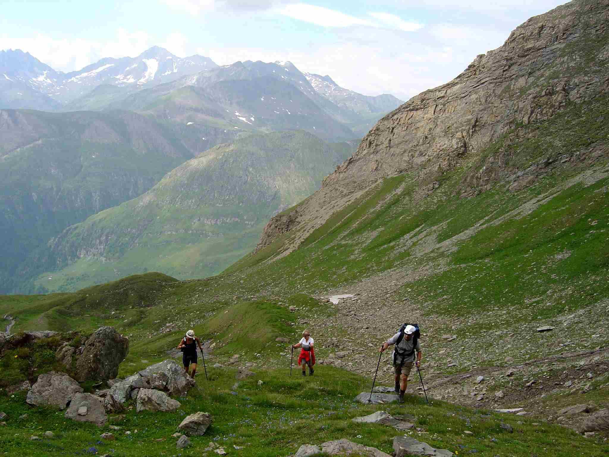 Foto: Manfred Karl / Wander Tour / Über Blumenwiesen auf die Racherin / Vor dem steilsten Teil. / 17.06.2007 06:37:37