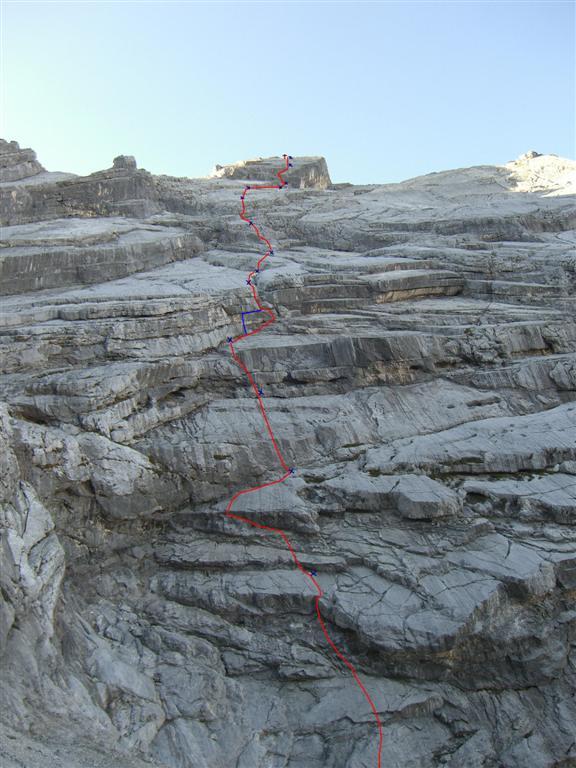 Foto: fliege / Kletter Tour / Lauf Forest lauf VI 4+ A0 / Durch Sanierung nicht mehr Aktuell (4. Seill. hat sich verändert) / 13.07.2007 19:34:39