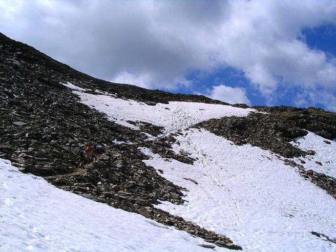 Foto: Andreas Koller / Wander Tour / Ahornspitze und Popbergschneid (2976m) / Die Scharte unterhalb der Ahornspitze / 18.06.2007 18:03:03