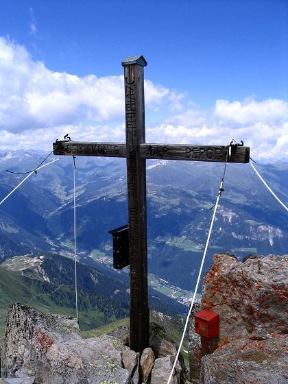 Foto: Andreas Koller / Wander Tour / Ahornspitze und Popbergschneid (2976m) / Gipfelkreuz auf der Ahornspitze / 18.06.2007 18:05:59