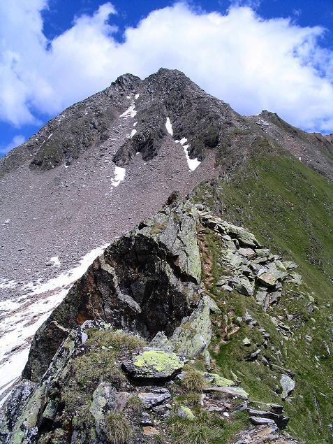 Foto: Andreas Koller / Wander Tour / Ahornspitze und Popbergschneid (2976m) / Die beiden Gipfel der Ahornspitze von der Popbergschneid / 18.06.2007 18:11:28