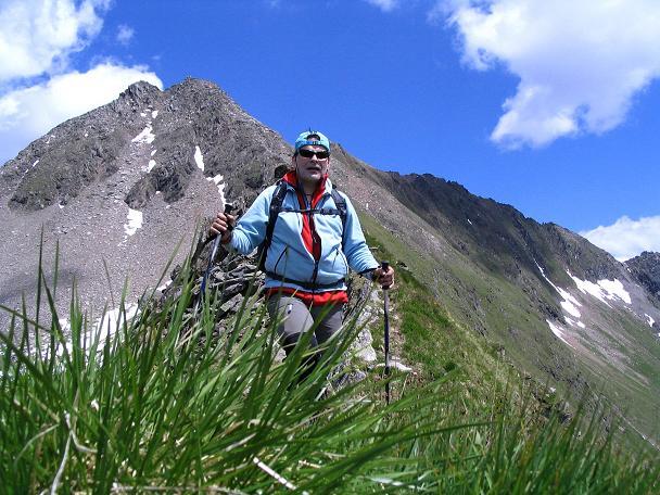 Foto: Andreas Koller / Wander Tour / Ahornspitze und Popbergschneid (2976m) / Ausgesetzter Gang über die Popbergschneid / 18.06.2007 18:11:55