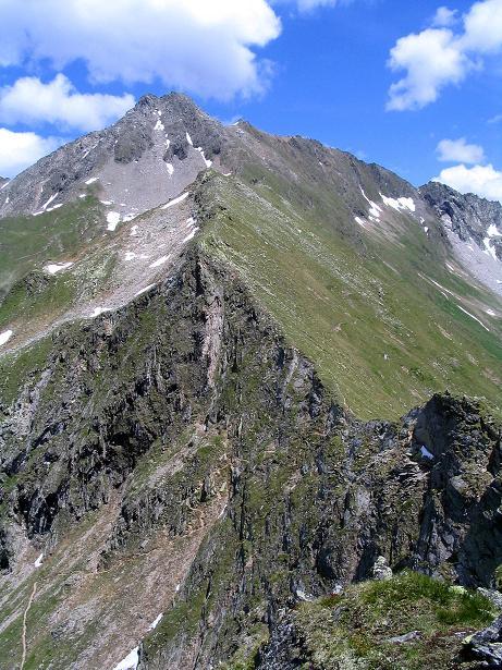 Foto: Andreas Koller / Wander Tour / Ahornspitze und Popbergschneid (2976m) / Ahornspitze, Popbergschneid und Abstiegssteig zur Edelhütte vom Toreggenkogel / 18.06.2007 18:13:02