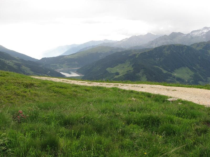 Foto: mucho / Mountainbike Tour / Gmünd Kellneralm Gerlos / Blick zum Durlaßbodenspeicher / 19.06.2007 07:31:19