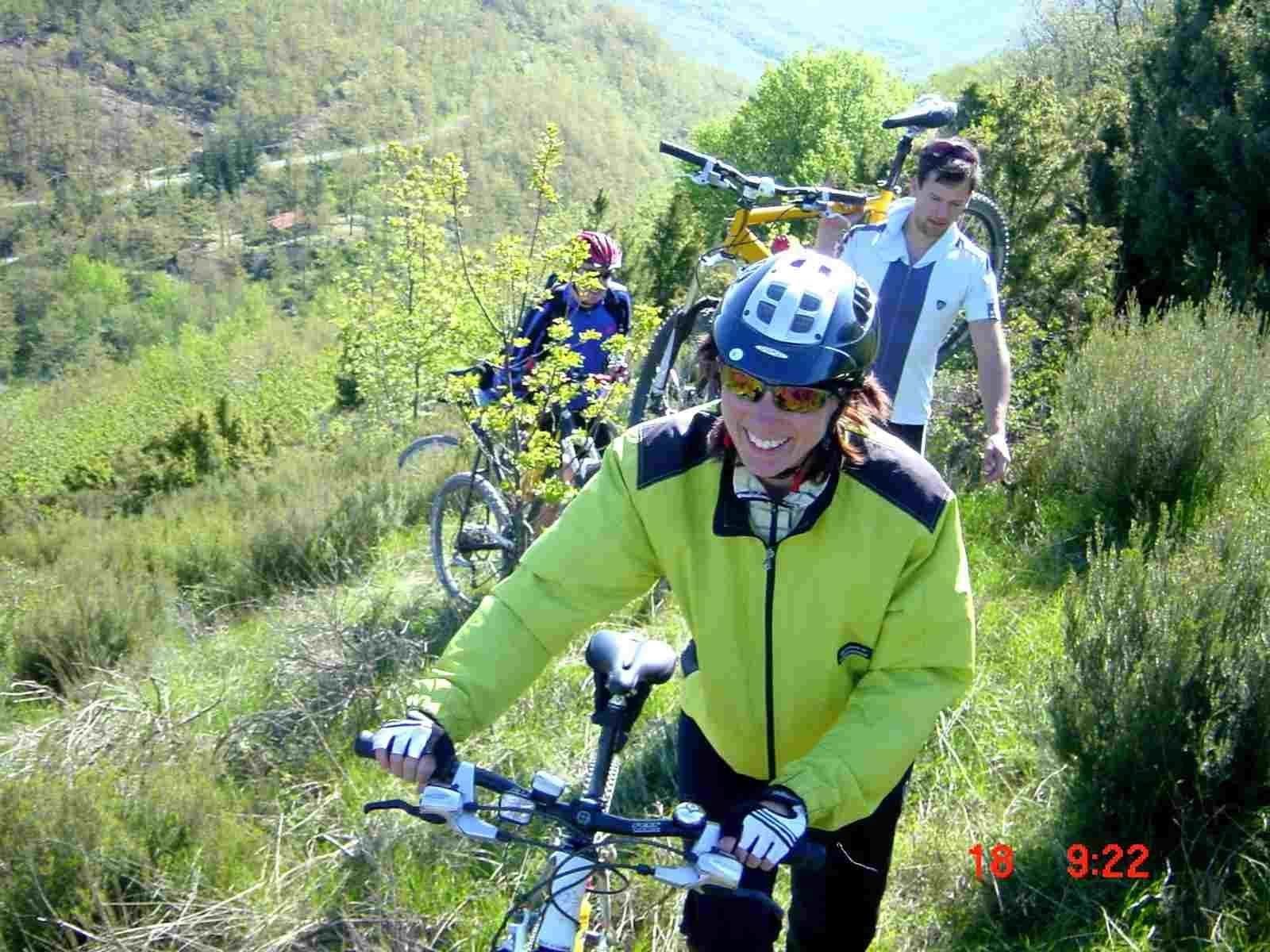 Foto: Manfred Karl / Mountainbike Tour / Monte Ginezzo, 928 m / Schiebestück / 20.06.2007 06:21:20
