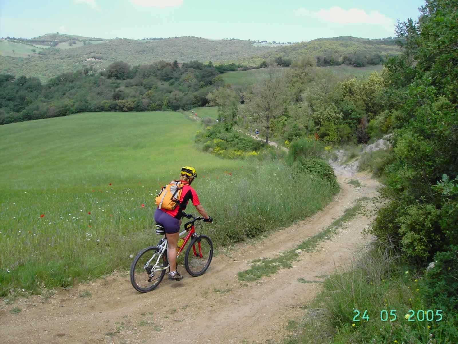 Foto: Manfred Karl / Mountainbike Tour / Von Bagno Vignoni nach Pienza / Etwas außerhalb vom Start in Bagno Vignoni / 20.06.2007 17:50:06
