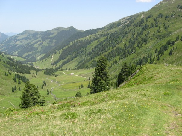Foto: mucho / Mountainbike Tour / Stumm Kothüttenalm Otto Leixl Hütte Alpbach / Inneralpbach Luegergraben von li: Schatzberg, Joel, Saupanzen / 20.06.2007 20:23:52