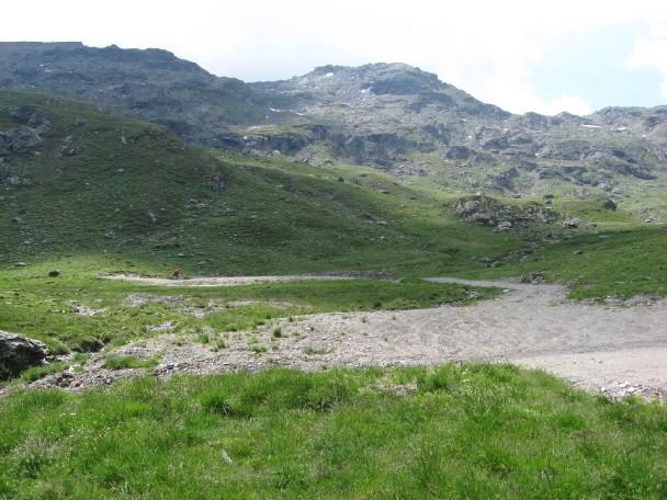Foto: mucho / Mountainbike Tour / Voldertal Melkboden  / Melboden mit Sonnenspitze (li) / 25.06.2007 14:37:23