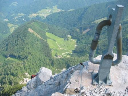 Foto: dobratsch11 / Klettersteig Tour / Lärchenturm - Klettersteig / am Ausstieg und Gipfel / 21.06.2007 17:04:39