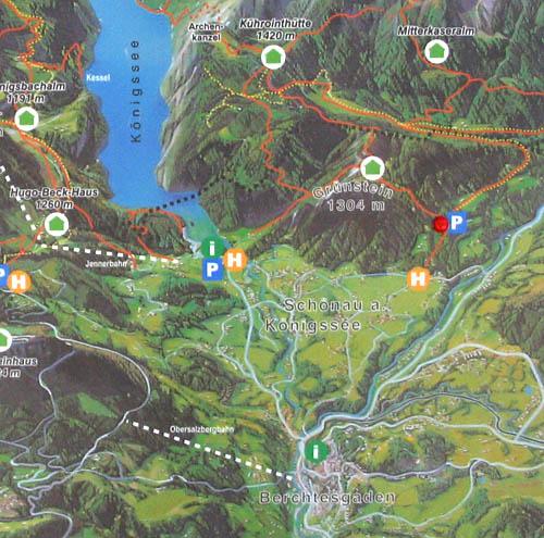 Foto: Lenswork.at / Ch. Streili / Mountainbiketour / Von Markt Schellenberg zur Kührointhütte (1.420 m) und Archenkanzl (1.346m) / Übersichtskarte / 25.06.2007 10:33:07