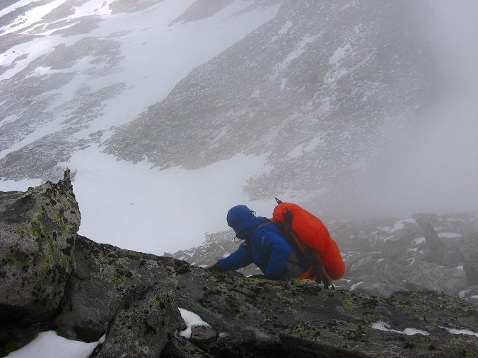 Foto: Andreas Koller / Wandertour / Von der Osnabrückerhütte auf den Preimlspitz (3133 m) / Die letzten Klettermeter auf den Preimlspitz / 27.06.2007 15:22:49