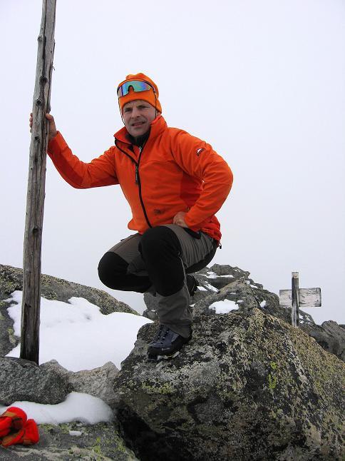 Foto: Andreas Koller / Wander Tour / Von der Osnabrückerhütte auf den Preimlspitz (3133 m) / Am Gipfel des Preimlspitz / 27.06.2007 15:23:04