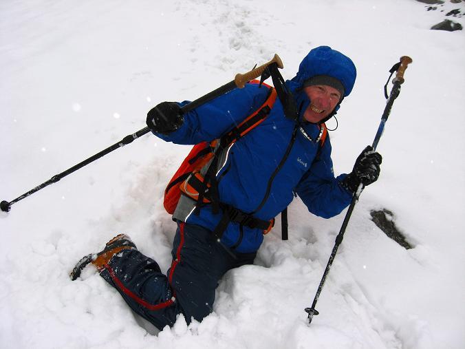 Foto: Andreas Koller / Wander Tour / Von der Osnabrückerhütte auf den Preimlspitz (3133 m) / Am Großelendkees eingebrochen / 27.06.2007 15:24:42