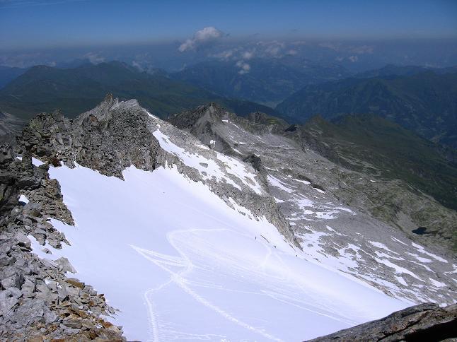Foto: Andreas Koller / Wander Tour / Vom Maltatal ins Gasteinertal (2886 m) / Das N-seitige Gstößkees unter dem Keeskogel / 27.06.2007 17:15:34