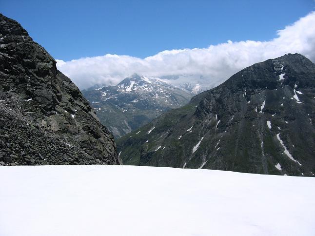 Foto: Andreas Koller / Wander Tour / Vom Maltatal ins Gasteinertal (2886 m) / Blick zur Hochalmspitze (3360 m) und ihren Trabanten / 27.06.2007 17:17:38